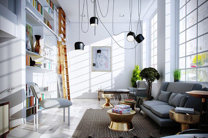 ánh sáng trong nội thất