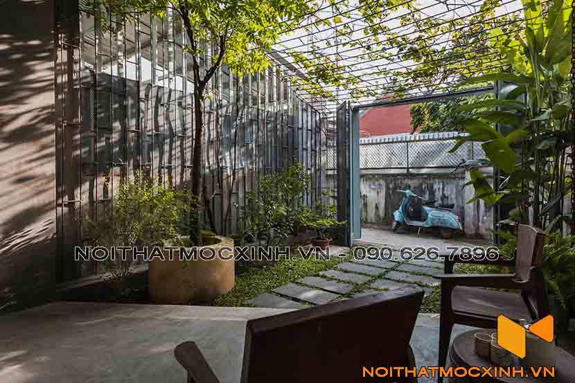 cải tạo không gian trước nhà thành sân vườn nhà cấp 4
