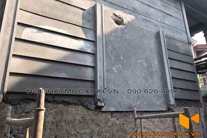 cải tạo nhà cấp 4 trát lại tường bên ngoài 1