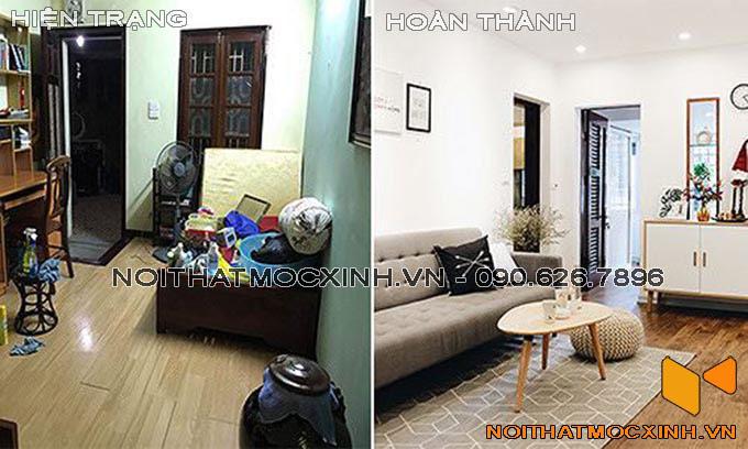 cải tạo phòng khách chung cư tại Hà Nội