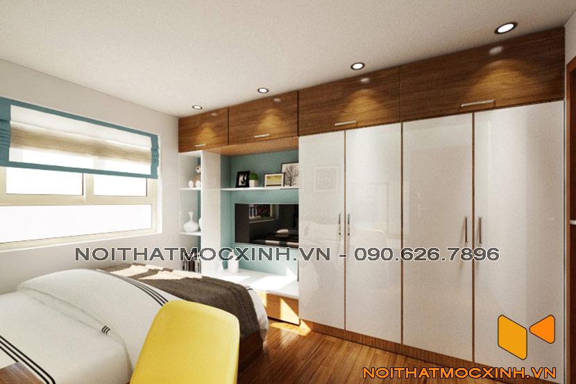 cải tạo phòng ngủ bố mẹ chung cư cũ Linh Đàm