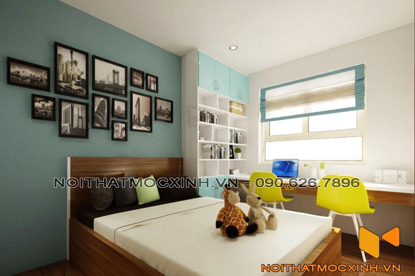 cải tạo phòng ngủ con trai chung cư cũ Linh Đàm 01