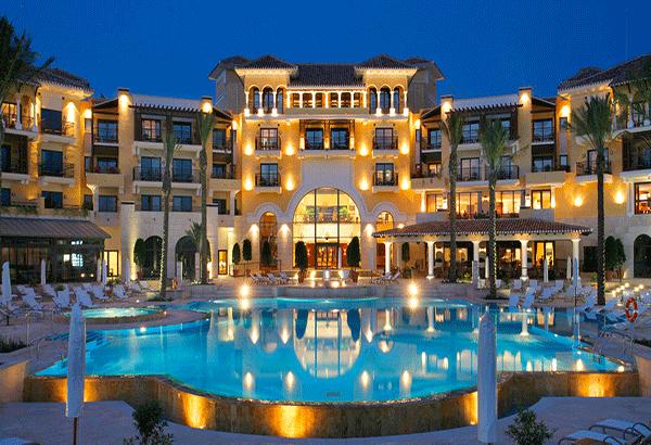 hệ thống chiếu sáng ngoại thất khách sạn