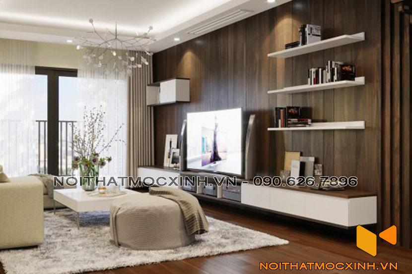 mẫu thiết kế phòng khách chung cư hiện đại