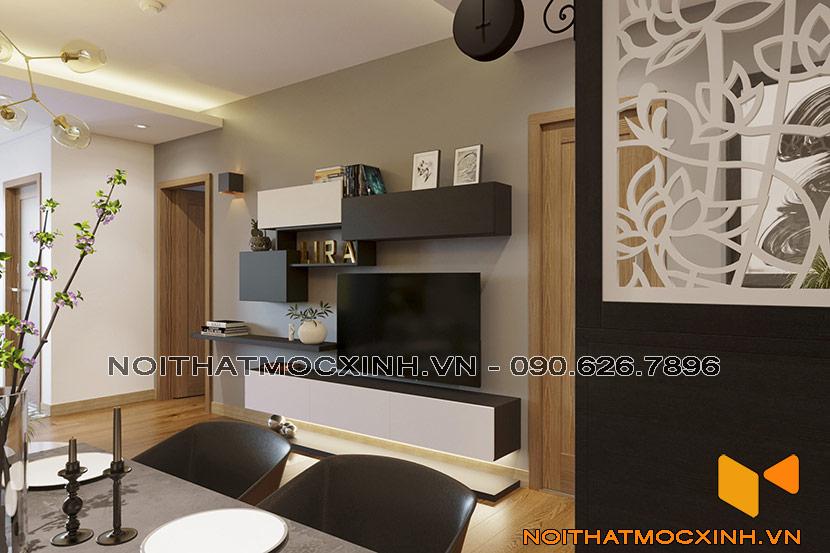 nội thất phòng khách chung cư CT2A Thạch Bàn 01