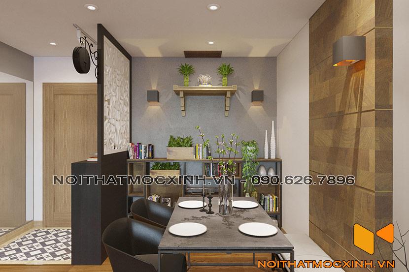 nội thất phòng khách chung cư CT2A Thạch Bàn 03