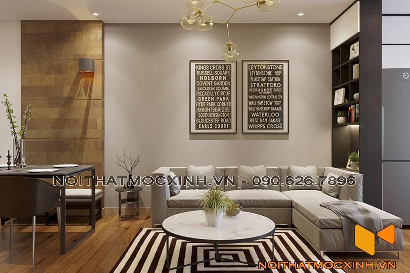 Nội thất phòng khách chung cư CT2A Thạch Bàn