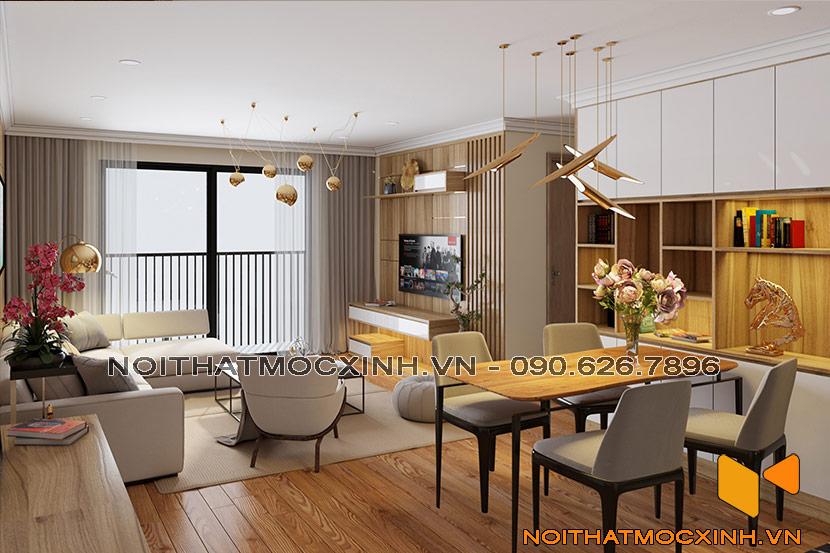 nội thất phòng khách eco lake view Đại Từ 05