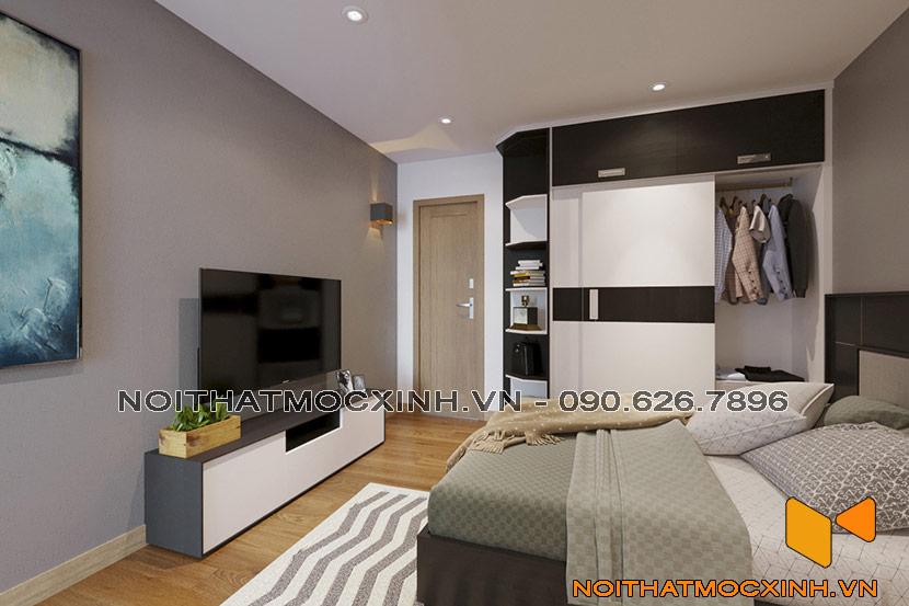 nội thất phòng ngủ chung cư CT2A Thạch Bàn 02