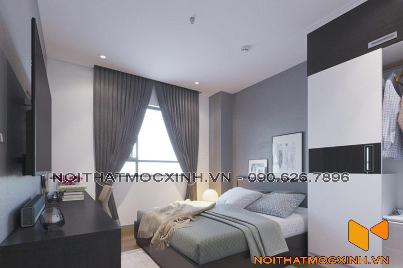 nội thất phòng ngủ chung cư CT2A Thạch Bàn 05