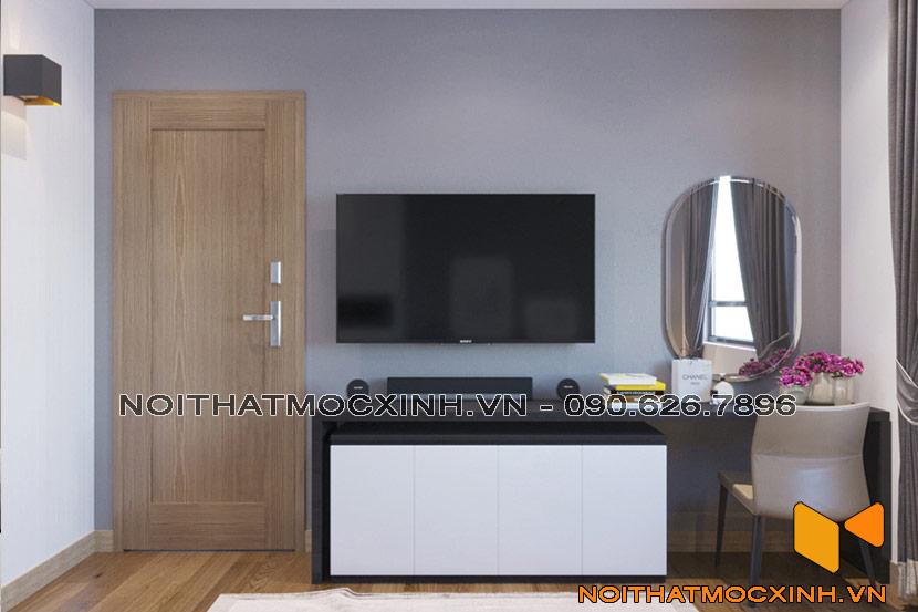nội thất phòng ngủ chung cư CT2A Thạch Bàn 06