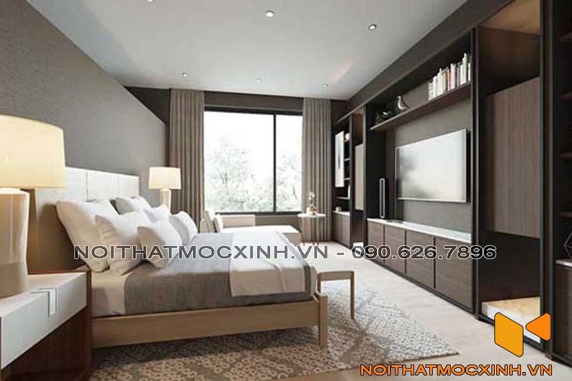 nội thất phòng ngủ đơn giản hiện đại