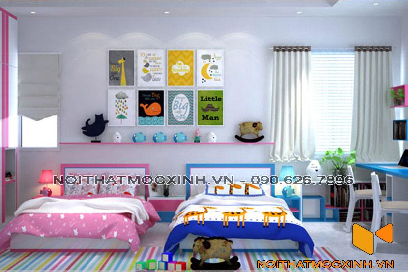 phòng trẻ em giường đôi