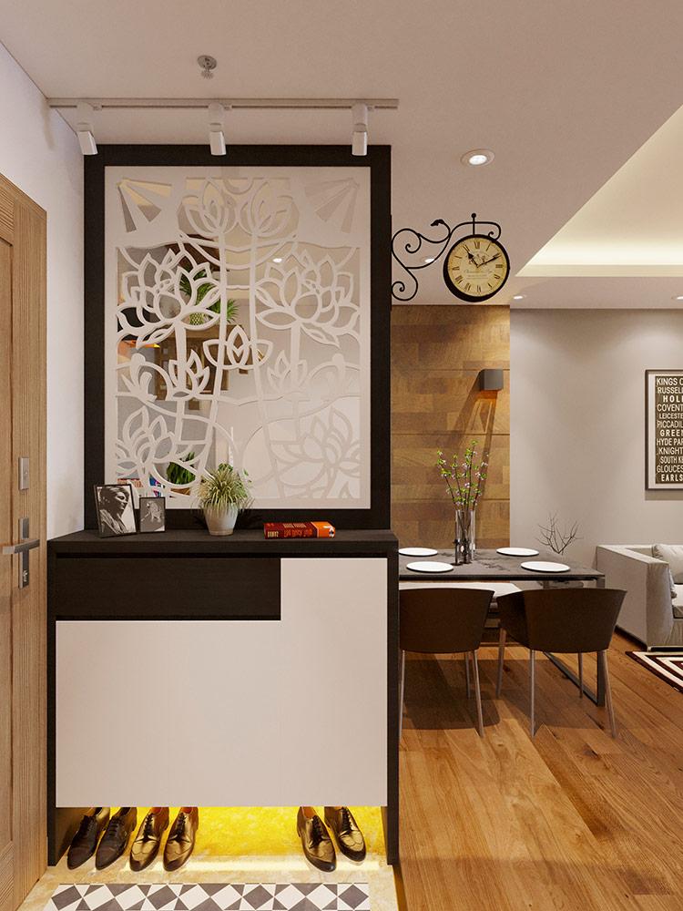 sảnh phòng khách chung cư CT2A Thạch Bàn 01