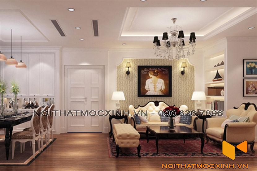 thiết kế nội thất chung cư tân cổ điển Hà Nội