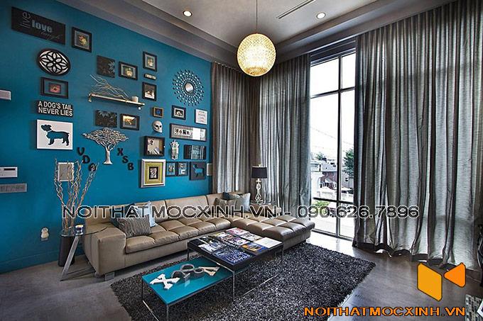 thiết kế nội thất phòng khách biệt thự hiện đại đẹp