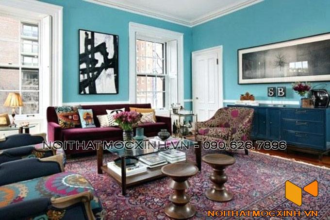 thiết kế nội thất phòng khách cá tính với nghệ thuật sắp đặt