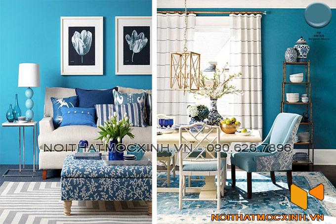 thiết kế nội thất phòng khách nhẹ nhàng cá tính