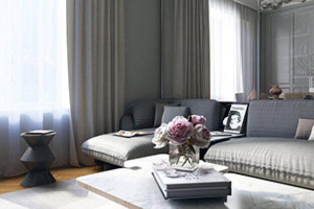 thiết kế nội thất phòng khách thum