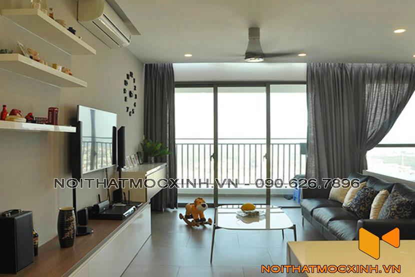 thiết kế phòng khách chung cư hiện đại đẹp nhất