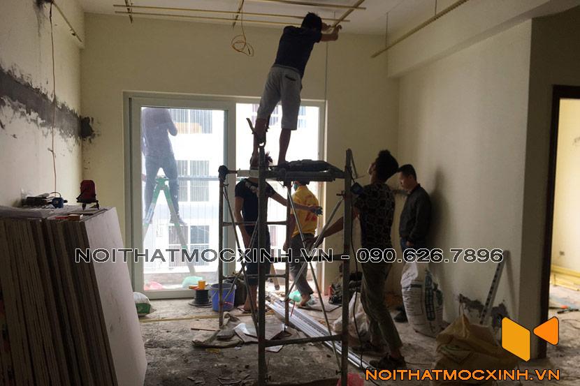 thực tế thi công nội thất
