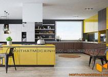 tủ bếp gỗ công nghiệp thum