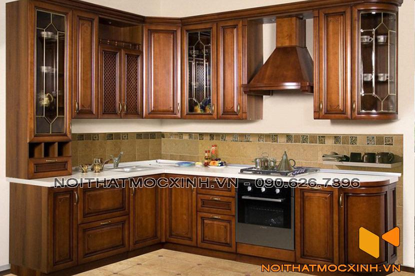 tủ bếp gỗ gụ đẹp
