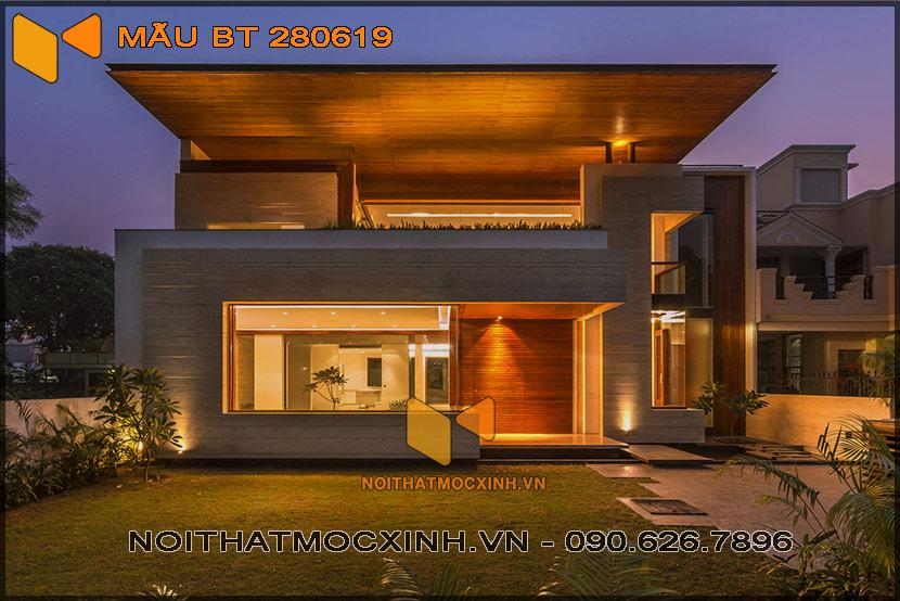 biệt thự 2 tầng hiện đại 14mx30m 280619 02
