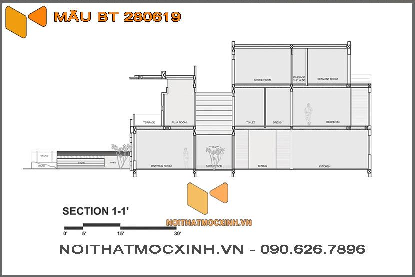 biệt thự 2 tầng hiện đại 14mx30m 280619 13