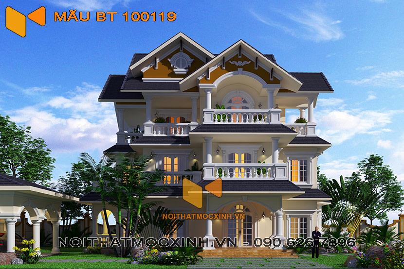 biệt thự 3 tầng mái thái 100119 01