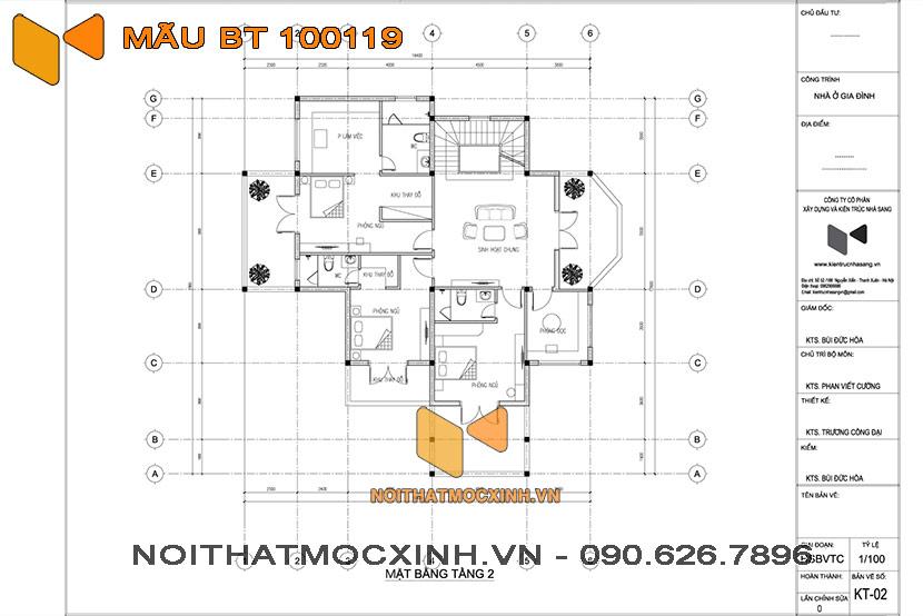 biệt thự 3 tầng mái thái 100119 03