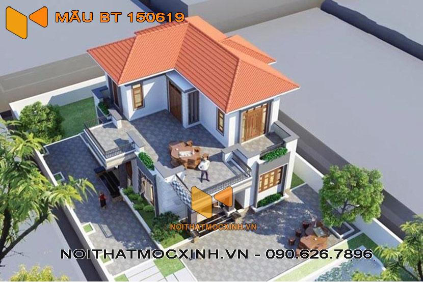 biệt thự mái thái 2 tầng 10m x 12m -01