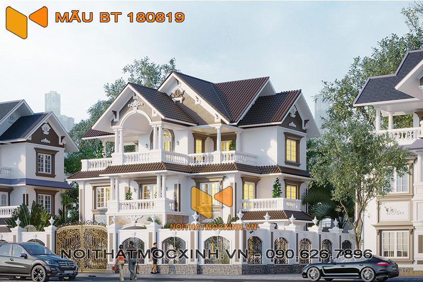 biệt thự mái thái 3 tầng Quang Hải 01