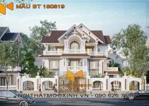 biệt thự mái thái 3 tầng Quang Hải 05