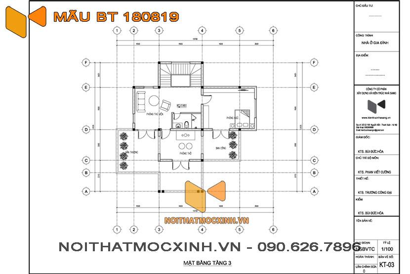 biệt thự mái thái 3 tầng Quang Hải 08