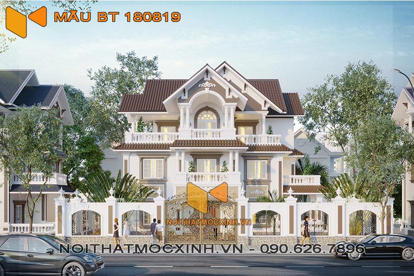 biệt thự mái thái 3 tầng Quang Hải