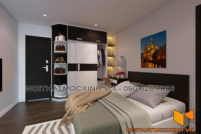 nội thất phòng ngủ dùng gỗ công nghiệp