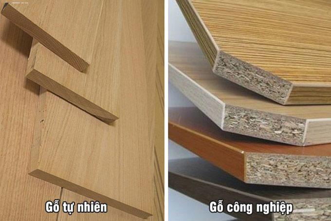 phân biệt gỗ công nghiệp với gỗ tự nhiên