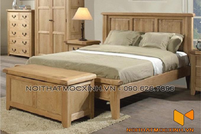 phòng ngủ sử dụng gỗ tự nhiên