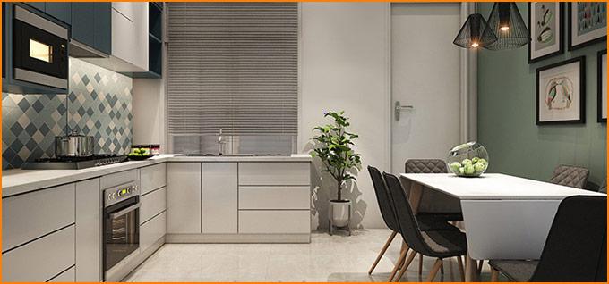thiết kế thi công nội thất nhà phố nhỏ hiện đại 01