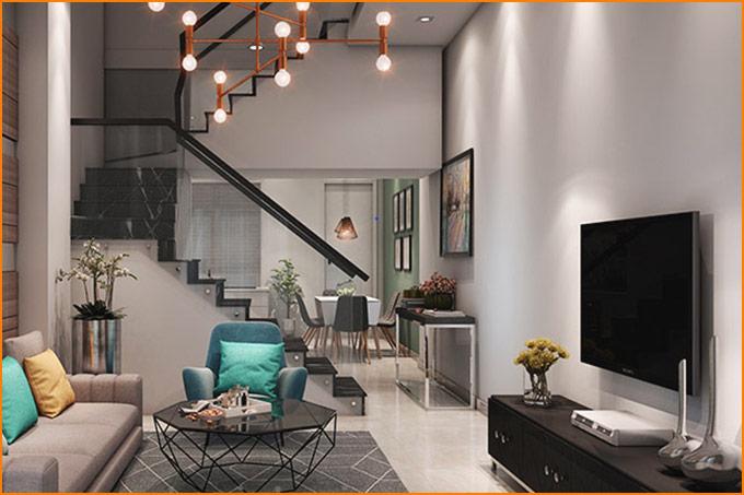 thiết kế thi công nội thất nhà phố nhỏ hiện đại