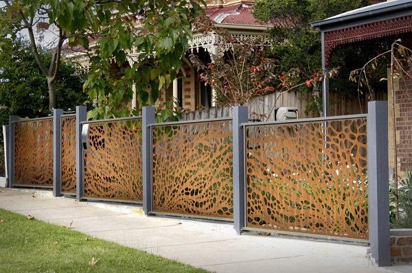 10 mẫu cổng hàng rào sắt hộp đẹp đơn giản 2019 4