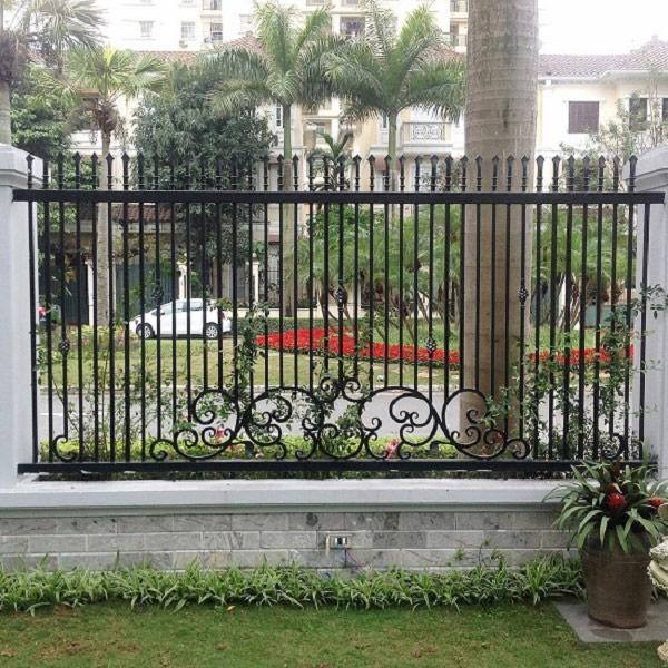 10 mẫu cổng hàng rào sắt hộp đẹp đơn giản 2019 5