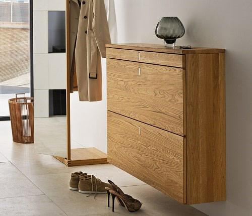 Tủ giày thông minh sử dụng gỗ Veener