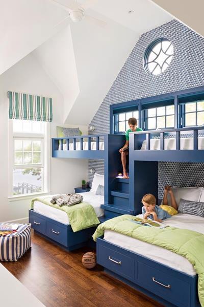 Giường tầng đẹp thiết kế theo phong cách trẻ trung