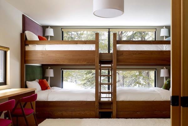 giường tầng sơn màu cánh dán