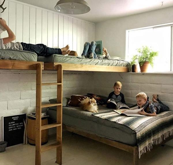 giường tầng thiết kế đơn giản tiết kiệm, đẹp