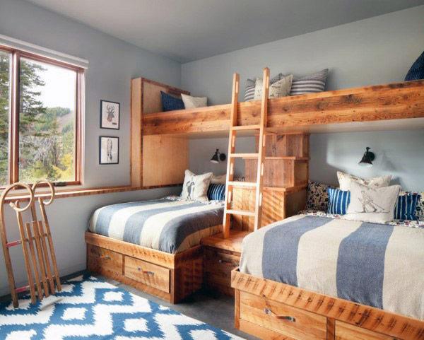 giường tầng thiết kế phong cách thô mộc