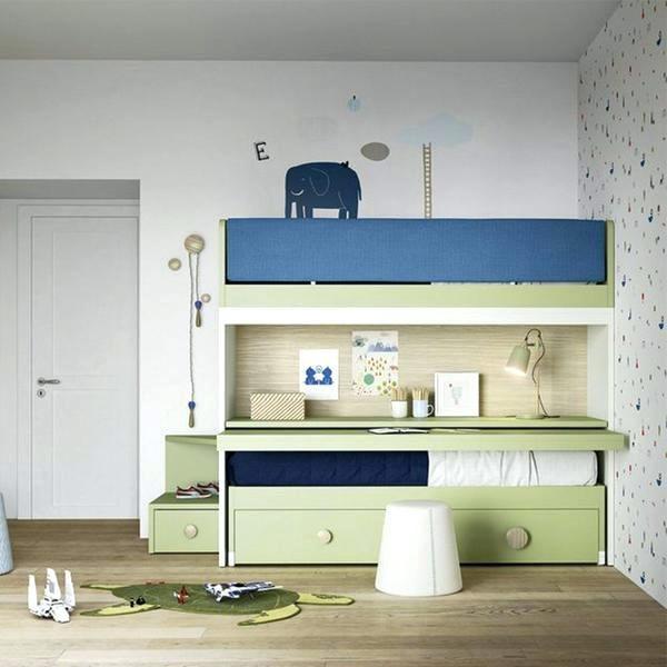 giường tầng nhỏ gọn có ngăn kéo