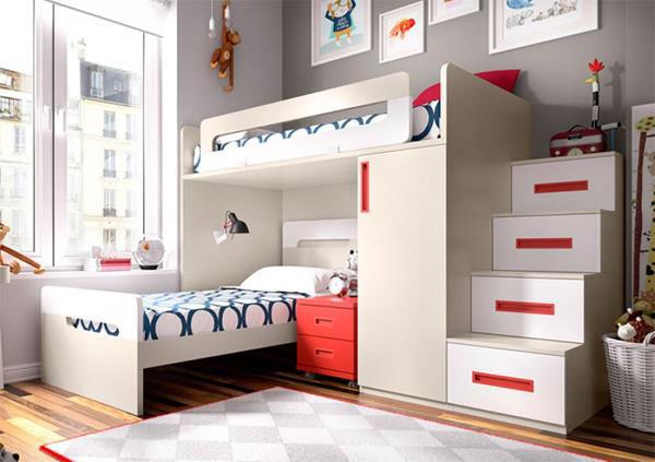 giường tầng bằng gỗ công nghiệp thiết kế tối ưu